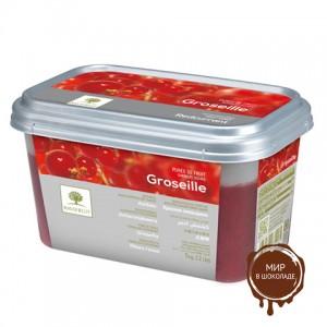 Замороженное пюре Красная смородина в блоке Ravifruit, 1 кг.