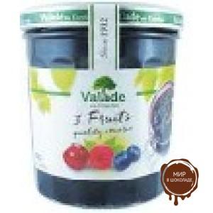 Джем из малины, черники, вишни  Valade  370г