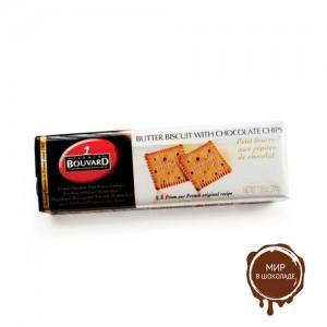 Сливочное печенье c шоколадной крошкой