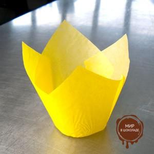 Форма бумажная  ТЮЛЬПАН 158/50 желтая (короб 1800 шт.)