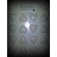 """Форма для отливки шоколадных фигурок - """"Гладкие сердечки"""" (90-1004), шт."""