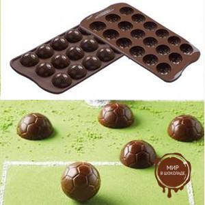 Форма силиконовая ИЗИ-ШОК футбольный мяч, короб 1 шт.