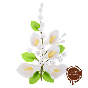 """Цветы из мастики - """"Букет калл"""", Белый (11184*Gi/p), шт."""