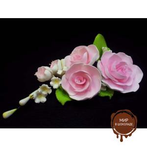 """Цветы из мастики - """"Букет роз"""", Розовый  шт. 11940*Bi/p"""