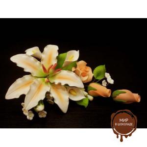 """Цветы из мастики - """"Букет лилий"""" (11142/P), шт."""