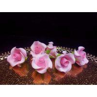 """Цветы из мастики - """"Бутоны розы"""", Розовые, 6шт. (11113*B/p), уп."""
