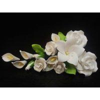 """Цветы из мастики - """"Букет цветов"""", Белый (11135*G/p), шт."""