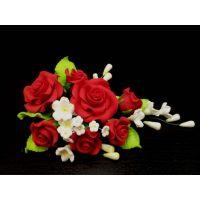 """Цветы из мастики - """"Букет роз"""", Красный (11137*D/p), шт."""