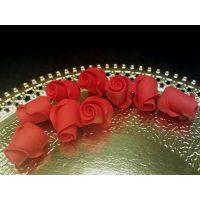 """Цветы из мастики - """"Бутоны розы"""", Красные, 9шт. (11145*D/p), уп."""
