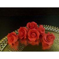 """Цветы из мастики - """"Бутоны розы"""", Красные, 6шт. (11146*D/p), уп."""