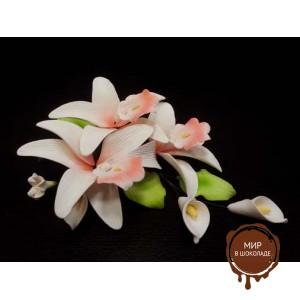 """Цветы из мастики - """"Букет орхидей"""" (11177i/p), шт."""