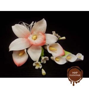 """Цветы из мастики - """"Букет орхидей"""" (11179i/p), шт."""