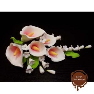 """Цветы из мастики - """"Букет калл"""", Розовый (11184*Bi/p), шт."""