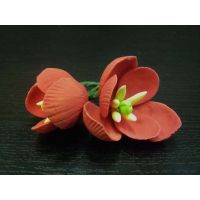 """Цветы из мастики - """"Бутоны тюльпана"""", Красные, 2шт. (11927*D/p), шт."""
