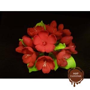 """Цветы из мастики - """"Букет фиалок"""", Красный (11931/p), шт."""