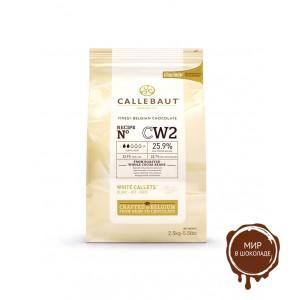 БЕЛЫЙ ШОКОЛАД В ГАЛЕТАХ 28% какао, Callebaut, 1 кг.