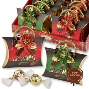 """Сумочки """"Новый год"""" с конфетами, 12 шт."""