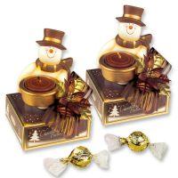"""Фарфоровый подсвечник """"Снеговик"""" со свечой и конфетами, 9 шт."""