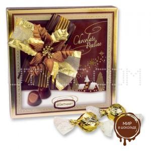 Шоколадные конфеты пралине «Рождество» в большой подарочной коробке, 12 шт.