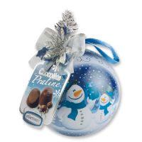 Жестяной шар с конфетами (голубой), 12 шт.