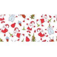 Бордюрная лента пленка Дед Мороз для обтяжки тортов 40 мкм., h 70 мм, 510 м, 1 ролик