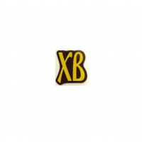 Декор фигурный темный ХВ  с надписью  из желтой глазури, 432 шт.