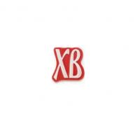 Декор фигурный ХВ на красной основе с надписью из белой глазури, 486 шт.