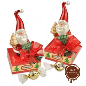 "Сувенир  ""Дед Мороз на коробочке с конфетами"""