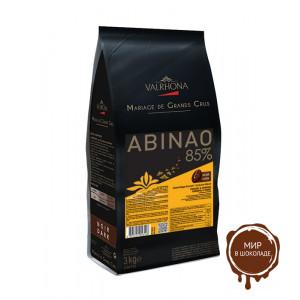 Горький шоколад Abinao, 85% какао, Valrhona, 3 кг.