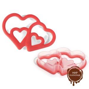 Форма для печенья пластиковая СЕРДЦА , 1 шт.