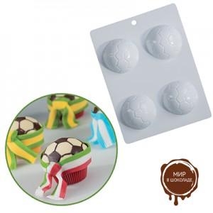 """Форма для отливки шоколадных фигурок - """"Футбольный мяч"""" (20-CA100), шт."""