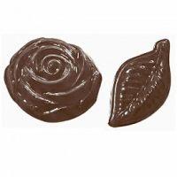 """Форма для отливки шоколадных фигурок - """"Листья и розы"""" (90-13069), шт."""