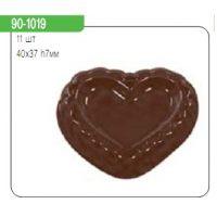 "Форма для отливки шоколадных фигурок - ""Сердце"" (90-1019), шт."