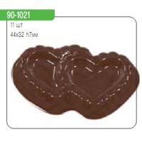 """Форма для отливки шоколадных фигурок - """"Двойные сердца"""" (90-1021), шт."""