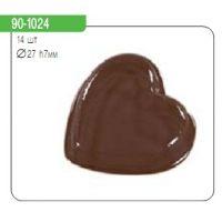 """Форма для отливки шоколадных фигурок - """"Гладкие сердечки"""" , шт."""