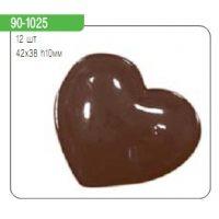"""Форма для отливки шоколадных фигурок - """"Гладкие сердечки"""" (90-1025), шт."""