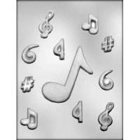 """Форма для отливки шоколадных фигурок - """"Музыкальные ноты"""" (90-13915), шт."""