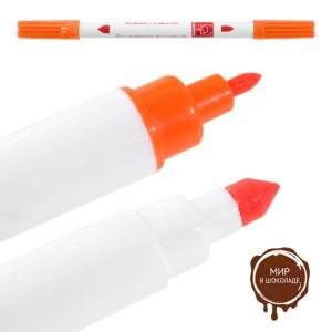 Двусторонний пищевой фломастер - Оранжевый (P23122*Q/p), шт.