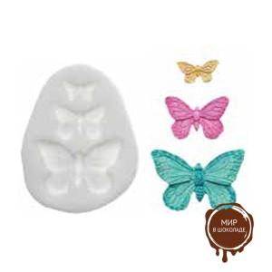 Форма силиконовая  ШУГАФЛЕКС бабочки (пакет 1 шт.)