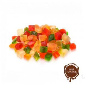ЦУКАТЫ фруктовый салат 6х6 мм, 10 кг.