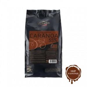 Черный шоколад Караноа (с карамелью) 55% какао, Valrhona, 3 кг.