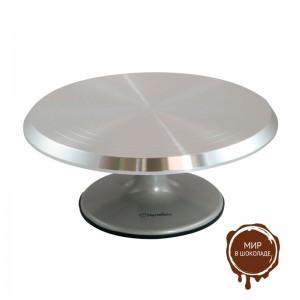 Подставка для тортов металлическая вращающаяся 29 см, короб 1 шт.