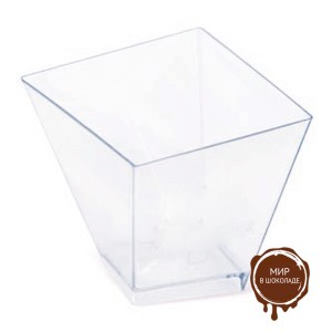 Креманка БИЖУ квадрат кристалл 60 мл, 600 шт.