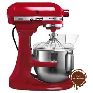 Миксер планетарный профессиональный Kitchen Aid 5KPM5EER, дежа 4,8 л, цвет красный, 1 шт.