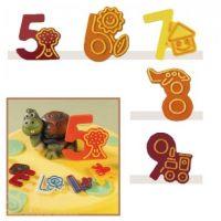 """Набор форм для создания шоколадных конфет с рисунком - """"Веселые цифры """"5-9"""", 2шт. (P20-C022), уп."""