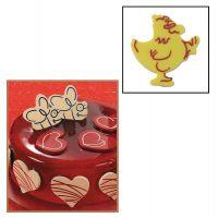 """Набор форм для создания шоколадных конфет с рисунком - """"Курочка"""", 2шт. (P20-C002), уп."""
