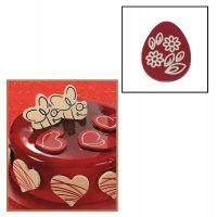 """Набор форм для создания шоколадных конфет с рисунком - """"Яйцо с цветами"""", 2шт. (P20-C003), уп."""