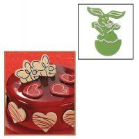 """Набор форм для создания шоколадных конфет с рисунком - """"Пасхальный кролик"""", 2шт. (P20-C005), уп."""