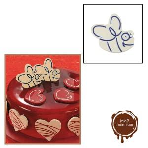"""Набор форм для создания шоколадных конфет с рисунком - """"Пчела"""", 2шт. (P20-C012), уп."""