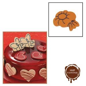 """Набор форм для создания шоколадных конфет с рисунком - """"Цветок"""", 2шт. (P20-C013), уп."""